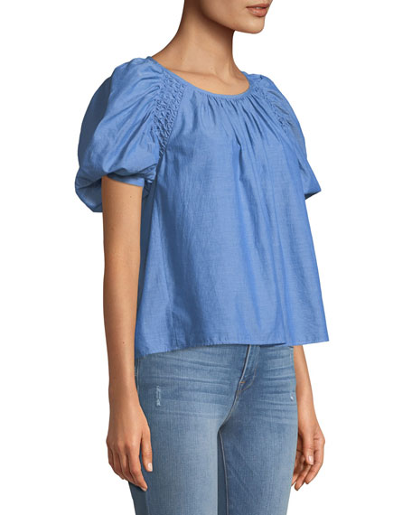 Lirona Bubble-Sleeve Top