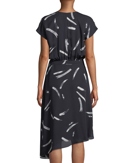 Bethwyn Printed Short-Sleeve Wrap Dress