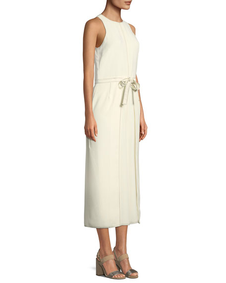 Mairead Sleeveless Split-Leg Jumpsuit