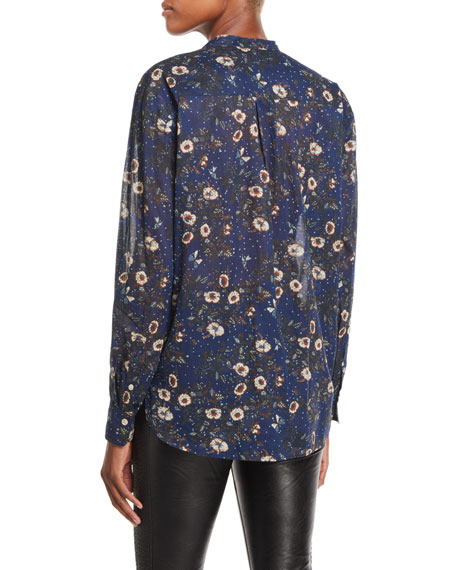Mexika Printed Button-Front Blouse