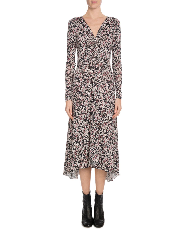 dcfd9f9a259 Etoile Isabel Marant Tova Printed Long-Sleeve Midi Dress
