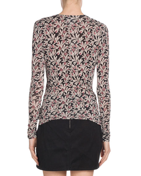 Trend Floral-Print Long-Sleeve Top