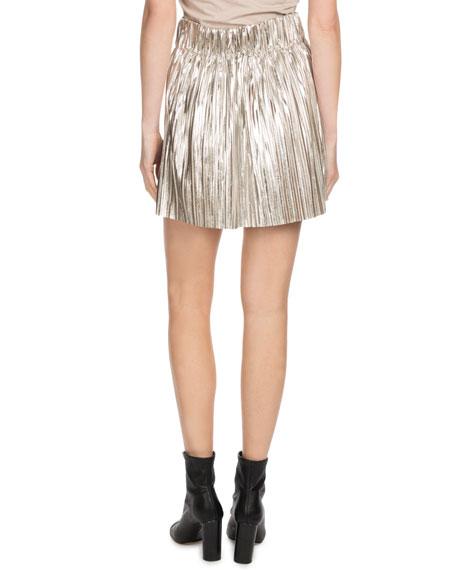 Delpha High-Rise Metallic Short Skirt