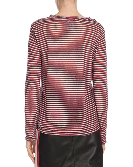 Kaaron Striped Long-Sleeve Tee