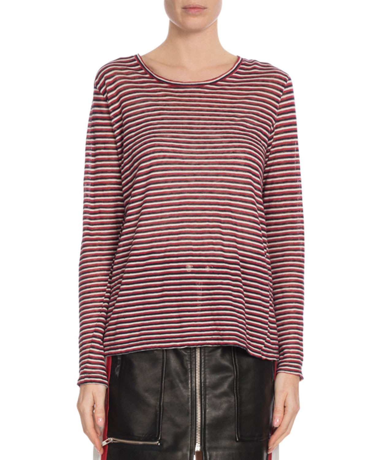 6268ccc7e966 Etoile Isabel Marant Kaaron Striped Long-Sleeve Tee
