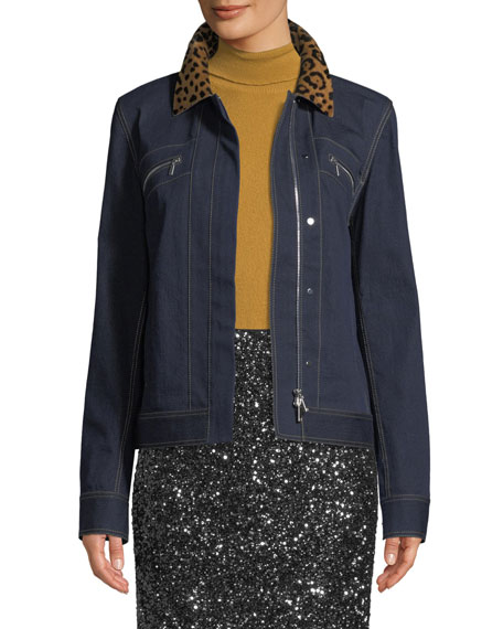 Lafayette 148 New York Kesha Denim Jacket w/