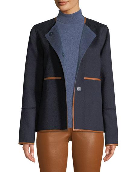 Rayen Reversible Two-Tone Jacket w/ Leather Trim