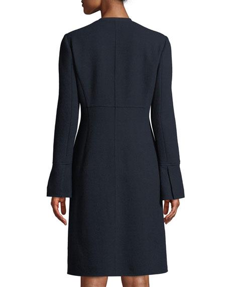 Russo Nouveau Crepe Wool Coat