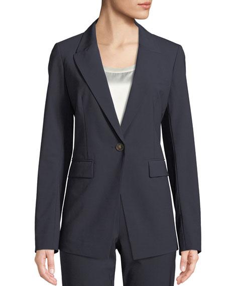 Heather Emerging Wool-Stretch Jacket