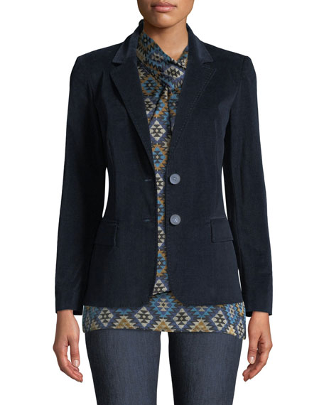 Camden Curated Corduroy Blazer Jacket in Ink