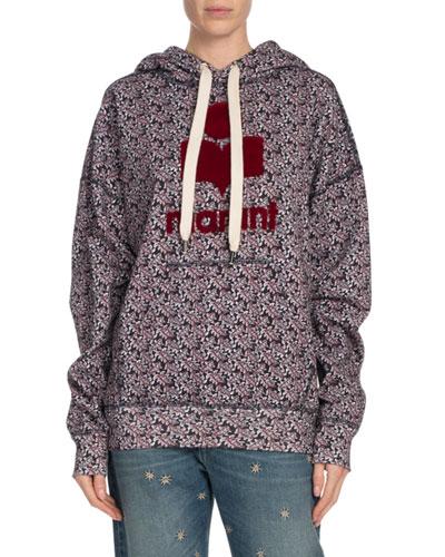 Mansel Printed Logo Graphic Hoodie Sweatshirt