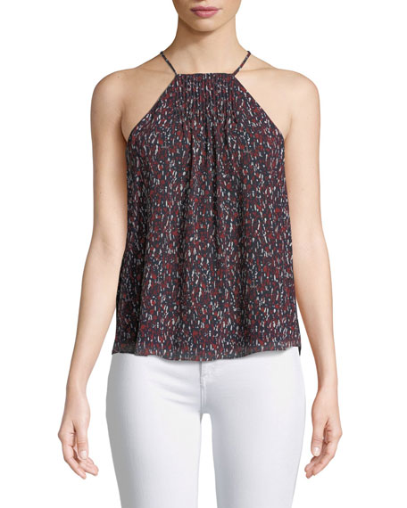 Trianna Printed Silk Halter Top