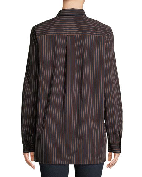 Brayden Spirited Stripe Cotton Blouse
