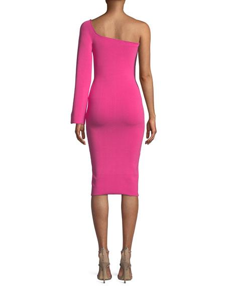Fiorella One-Sleeve Bodycon Midi Dress