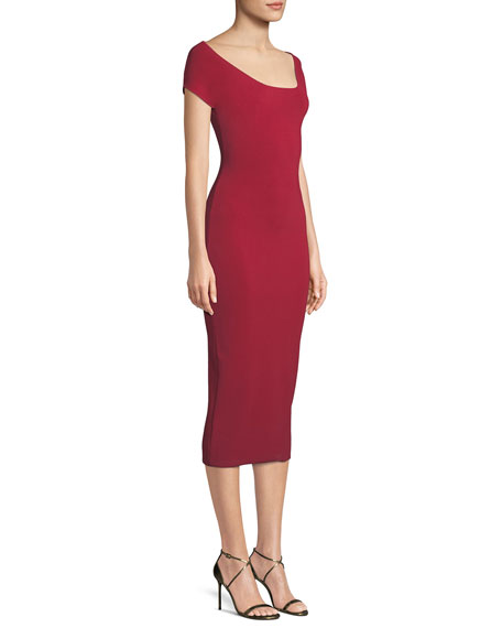 Cierra Off-the-Shoulder Midi Dress