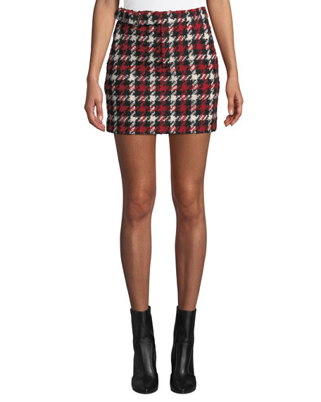 McQ Alexander McQueen Belted Mini Skirt | Neiman Marcus