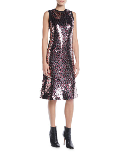 Sleeveless Sequin Tank Dress