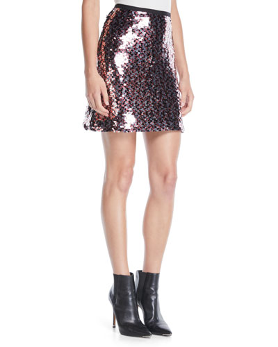 Sequin Mini-Length Tube Skirt