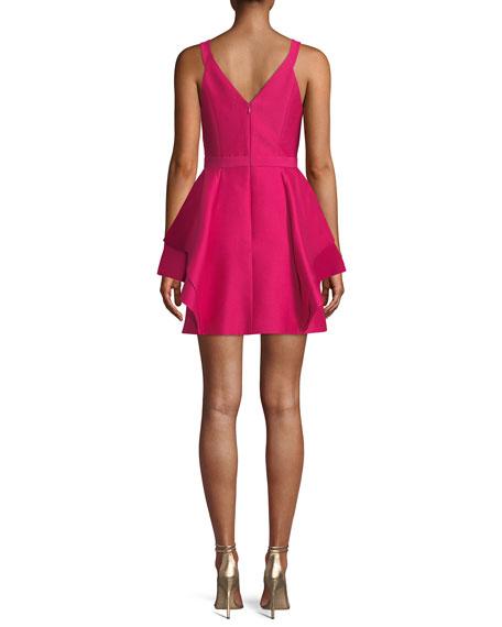 Sleeveless Dramatic Flounce Mini Dress