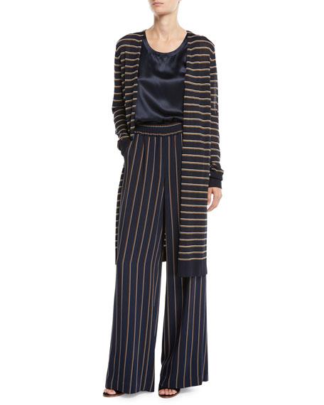 Metropolitan Shine Striped Long Cardigan