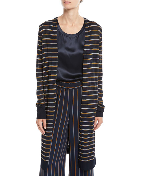 Lafayette 148 New York Metropolitan Shine Striped Long