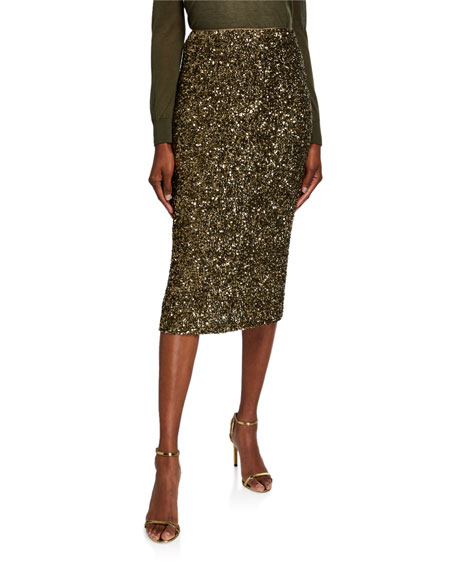 Casey Shimmering Sequin Pencil Skirt