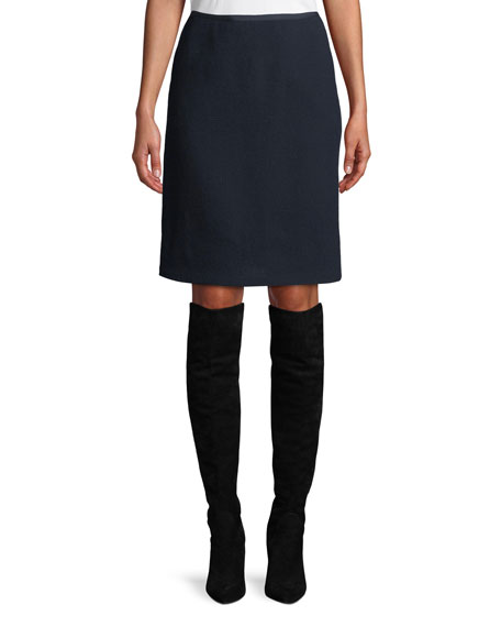Tula Nouveau Crepe Wool Pencil Skirt