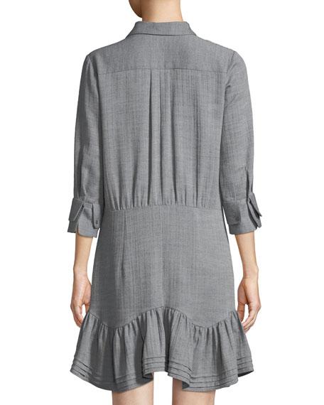 Button-Front Collared Shirt Dress