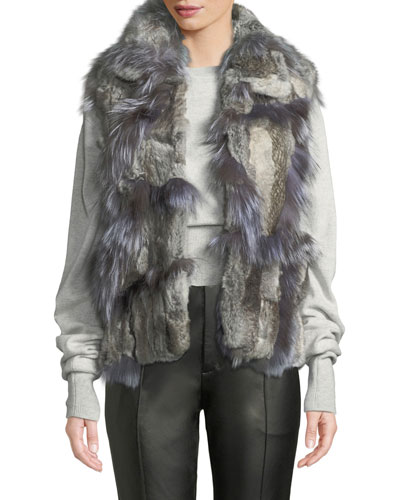 Short Patchwork Fur Vest