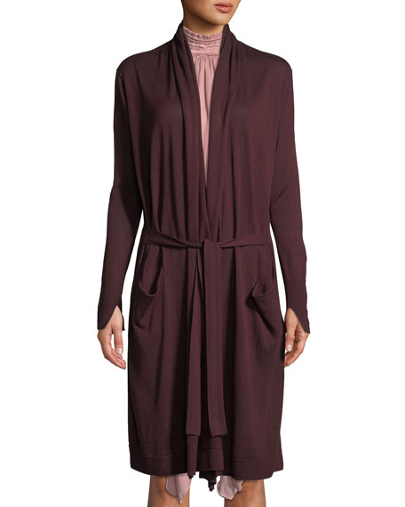 Halston Heritage Long-Sleeve Open-Front Cardigan