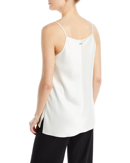 Cowl-Neck Satin Camisole Top