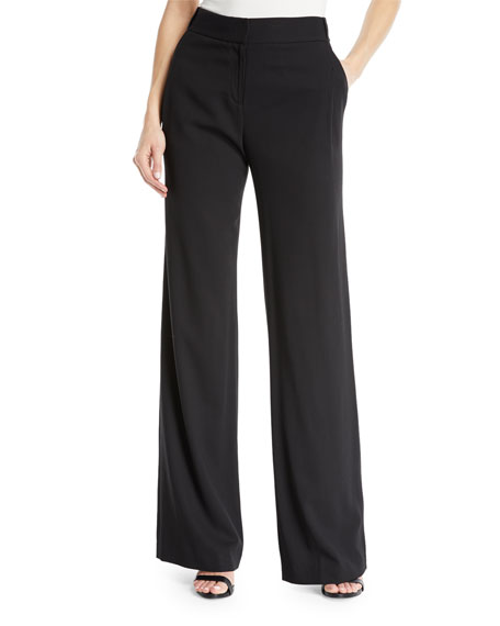 Halston Heritage Wool-Blend Wide-Leg Pants