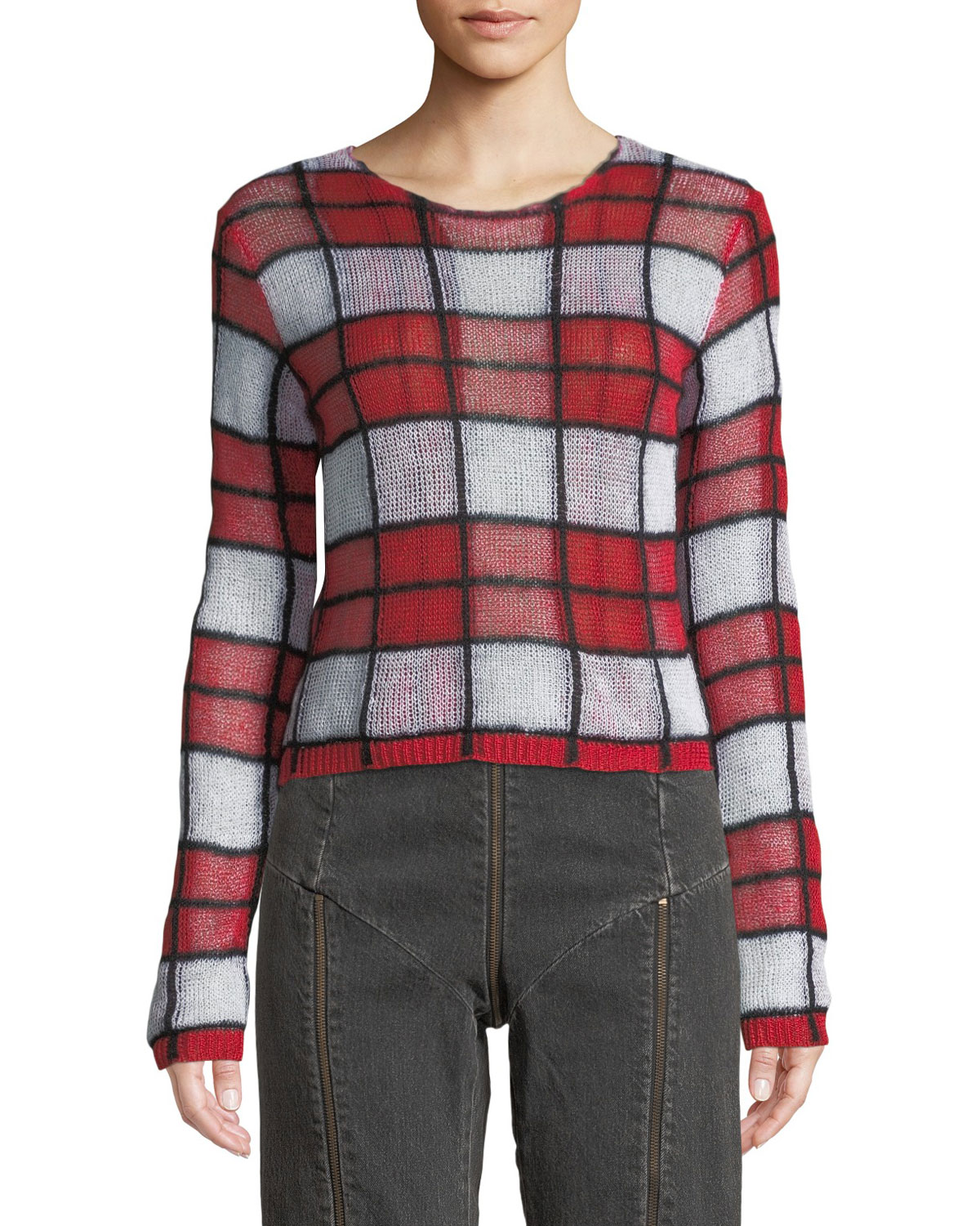 2812e7b76e67 McQ Alexander McQueen Sheer Checker Sweater