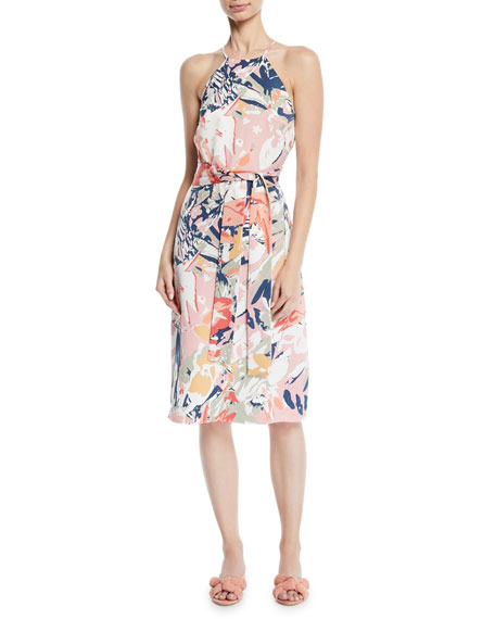 Club Monaco Scharpettah Floral-Print Halter Dress