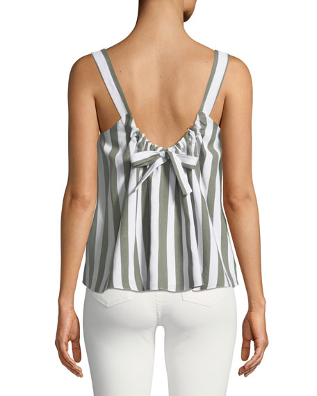 McCarren Striped Tie-Back Tank Top