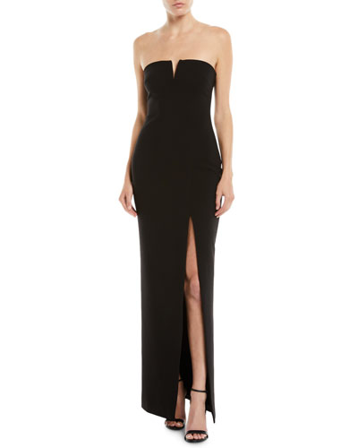 Windsor Strapless Gown w/ High Slit