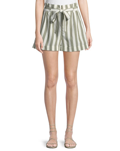 Anree Striped Tie-Front Shorts