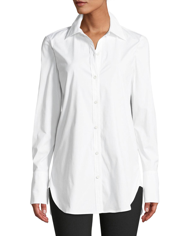 d20fcfff0c804c Theory Classic Button-Down Long-Sleeve Stretch-Cotton Tuxedo Shirt ...