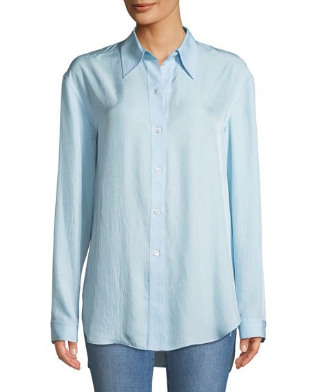 Weekender Long-Sleeve Button-Down Washed Twill Shirt