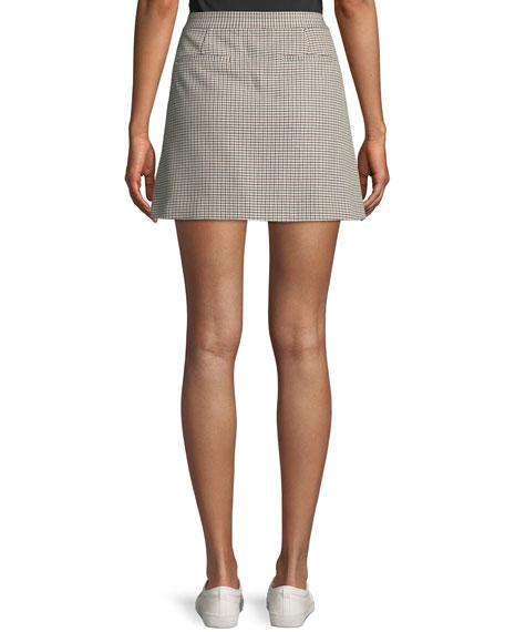 Snap-Tab Fremont Plaid Wrap Mini Skirt