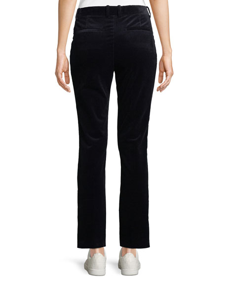 Slim Straight-Leg Modern Corduroy Trousers