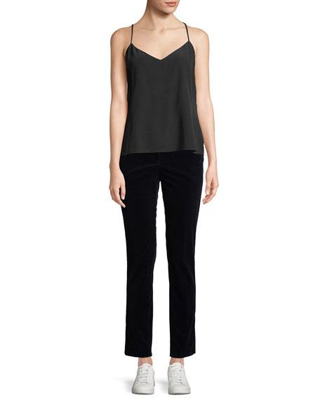 Slim Straight-Leg Modern Corduroy Trousers