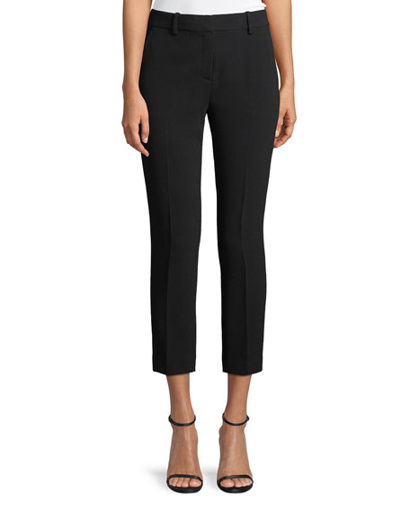 Trecca 2 Straight-Leg Cropped Admiral Crepe Pants