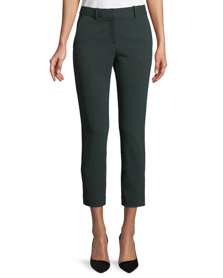Trecca 2K Textured-Knit Skinny-Leg Cropped Pants