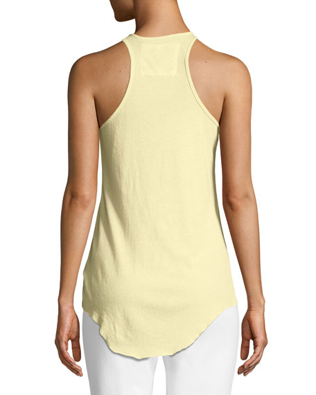 Base Layer Scoop-Neck Cotton Tank, Yellow