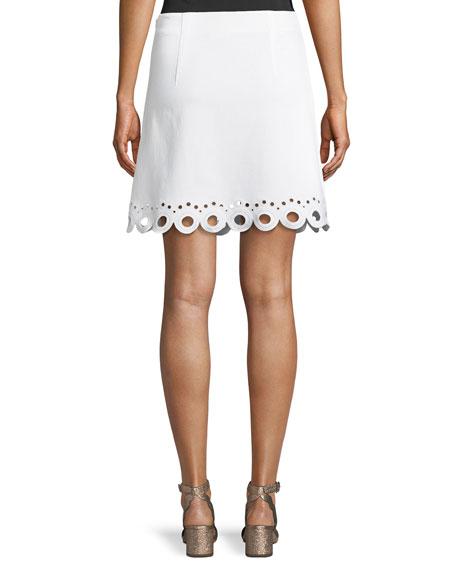 Akemi Scalloped Eyelet Skirt