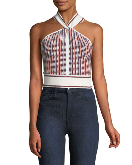 Club Monaco Raeni Cropped Halter Sweater Top