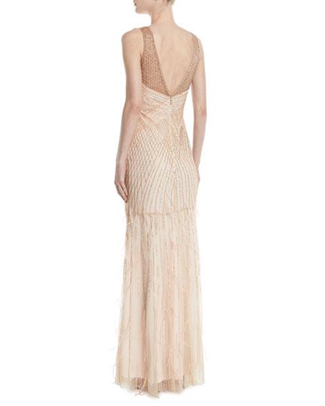 Manuela Beaded Gown w/ Open Back