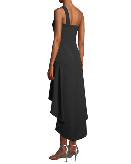 Heather Crepe Cocktail Dress w/ Beaded Strap