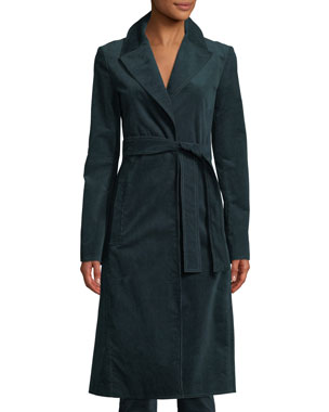 62764c245ccd5 Theory Cinched Belted Oslo Corduroy Trench Coat